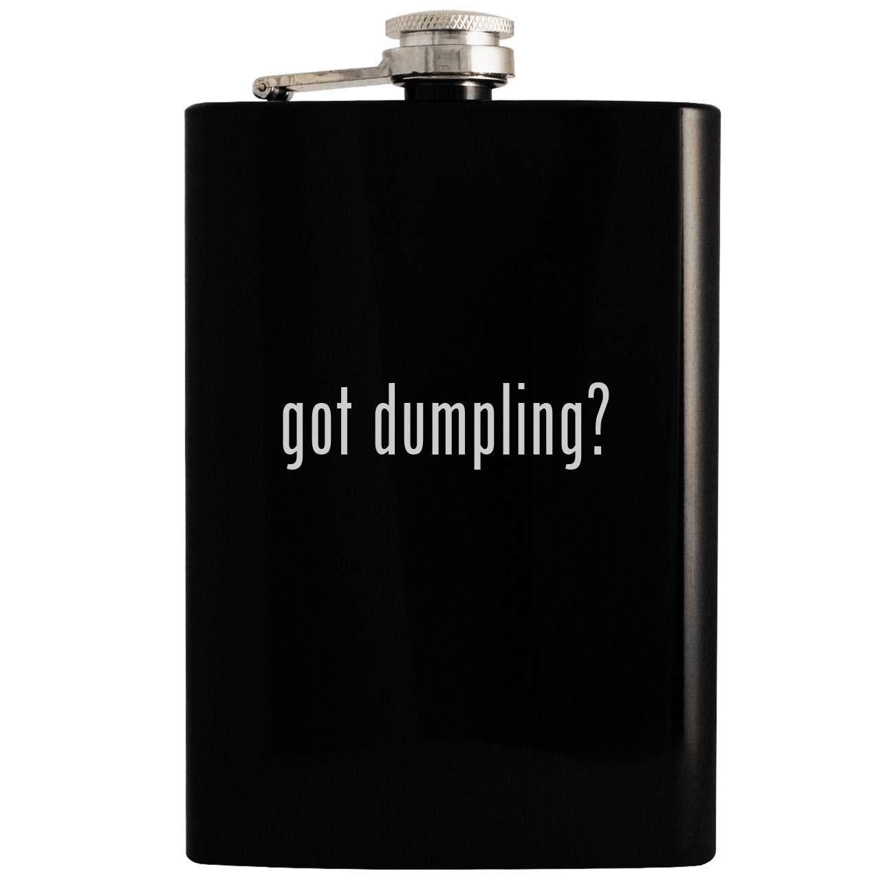 got dumpling? - Black 8oz Hip Drinking Alcohol Flask