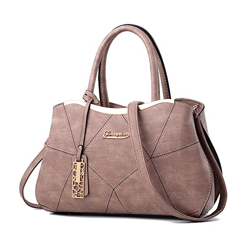 AILEESE For Shoulder Pink Packet 2017 Female Hobos Satchel Women's Handbags Splice Totes Bags New Khaki Lady Messenger xXrnwPx