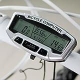 GeoBIX(TM)LCD Backlight Waterproof Bike Computer Odometer Speedometer Multifunction Bicycle Accessories Clock Stopwatch YC053-SZ+