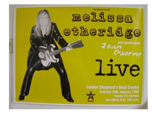 Melissa Etheridge Poster Live with Joan Osborne