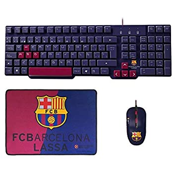 Mars Gaming BLBC2 - Pack de teclado, ratón y alfombrilla del FC Barcelona Lassa: Amazon.es: Informática