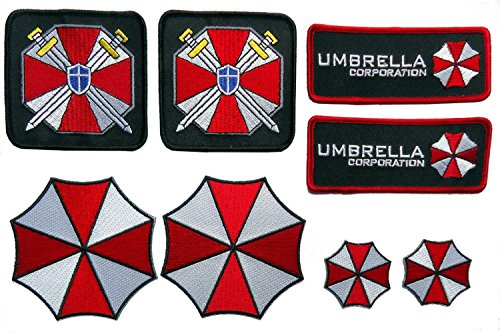 Resident Evil Umbrella Corporation Costume Cosplay Patches Set of 8 (Resident Evil Costume)