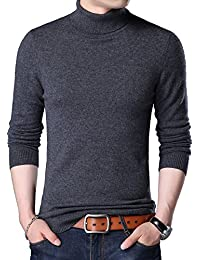 "<span class=""a-offscreen"">[Sponsored]</span>Men's Fashion Turtleneck Pullover Solid Sweater"