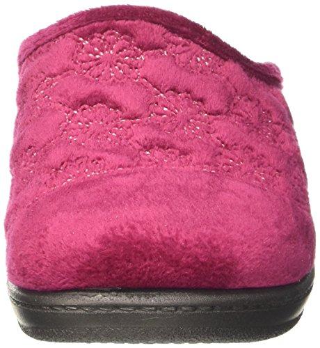 Donna Prugna Lory Rosso INBLU Caviglia Aperte sulla Pantofole UpawqAB