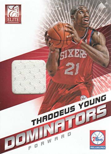 2012-13 Elite Basketball Basketball Dominators Jersey #18 Thaddeus Young Philadelphia 76ers