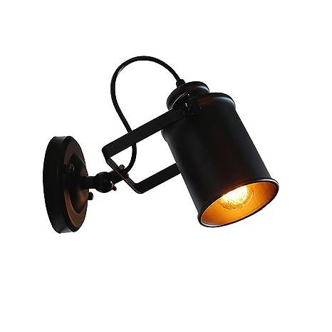 Retro Aplique de metal, 1 x E27 Lámpara de pared Ajustable ...