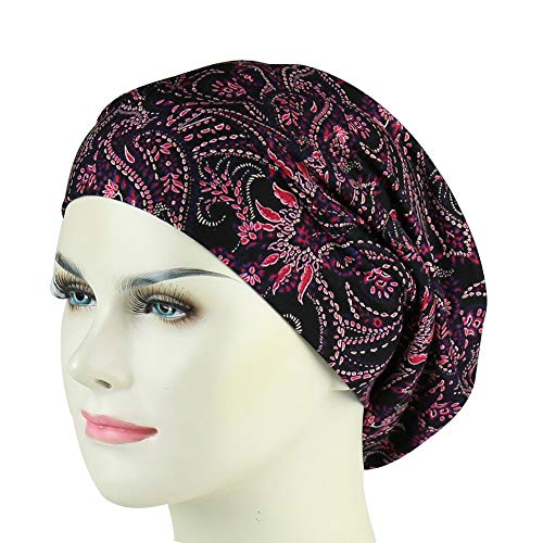 Women's Soft Slouchy Satin Lined Hat Beanie Cap