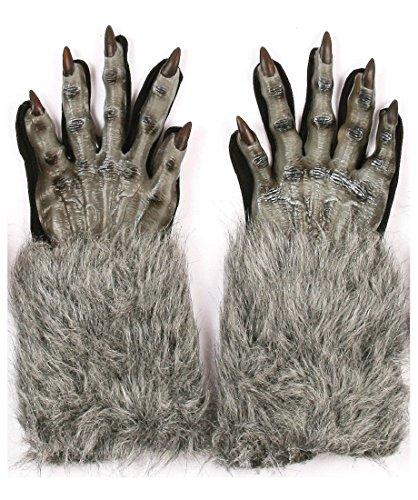 Werewolf Gloves (Grey) (Werewolf Costume Gloves)