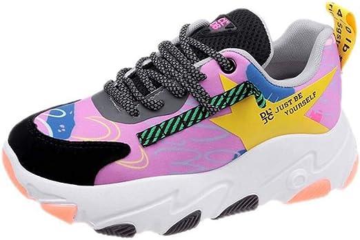 SHOES-HY Zapatos Casuales para Mujer Zapatillas de Deporte Ligeras y cómodas, Zapatillas de Tenis para Correr con Gimnasia Gimnasio Deporte Entrenamiento Gimnasio Atlético,Rosered,36: Amazon.es: Jardín
