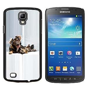 EJOOY---Cubierta de la caja de protección para la piel dura ** Samsung Galaxy S4 Active i9295 ** --Gato Perro Perrito de oro Setter