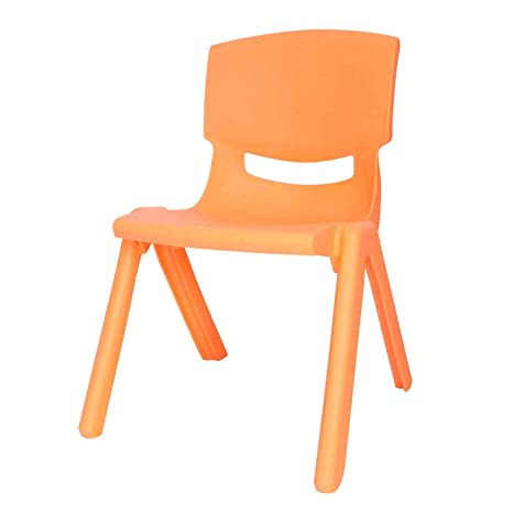 Brilliant Amazon Com Kids Plastic Chair Small Yellow Stacking School Squirreltailoven Fun Painted Chair Ideas Images Squirreltailovenorg