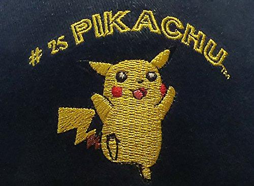 Original-Nintendo-Pokmon-Snapback-Cap-Gorra-Nios-53-59-cm-100-Algodn-Pikachu-Bordado-Cierre-Ajustable-Azul-Oscuro