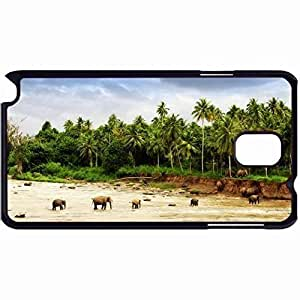 New Style Customized Back Cover Case For Samsung Galaxy Note 3 Hardshell Case, Back Cover Design Elephant Personalized Unique Case For Samsung Note 3