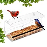 interesting patio gardens design ideas Ashman Deluxe Window Bird Feeder, Spacious Design, Attractive & Long Lasting, Fill it with Sunflower Black Oil Seeds, Easy to Install, Clean and Fill, Great Gift for Friends and Family