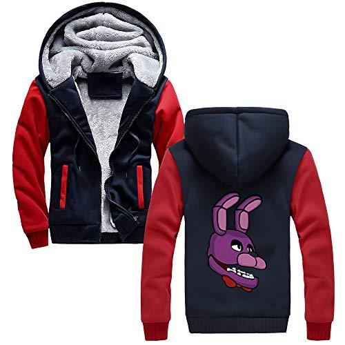Uomo Blue Cappotto Con Sportiva Outwear Invernale Più Popolare Red18 Spesso Cappuccio Nights Freddy's Autunno Casual Five At Felpe Haililais Velluto Giacca Maglie w4xqSfBqz