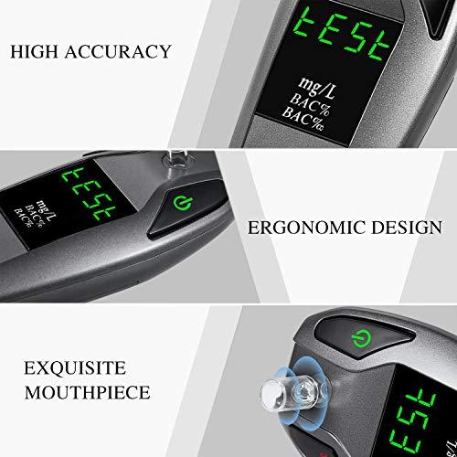 JASTEK Breathalyzer, [2019 New Version] Fuel Cell Sensor Digital Breath  Alcohol Tester and Professional Grade Blood Alcohol Content Detector Made  of