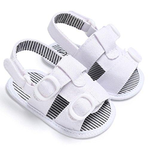 Bebé Prewalker Zapatos Auxma Zapatos de la zapatilla de deporte de las sandalias de la muchach para 3-6 6-12 12-18 meses Blanco