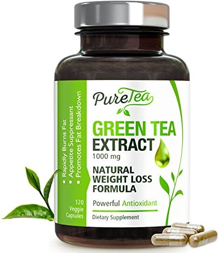 Green Tea Extract 98 Standardized EGCG for Healthy Weight Support 1000mg – Supports Healthy Heart, Metabolism Energy with Antioxidants Polyphenols – Gentle Caffeine, Made in USA – 120 Capsules