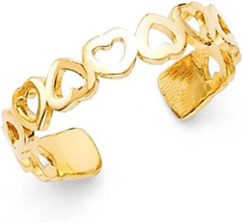 14k Yellow Gold Heart Toe Ring American Set Co