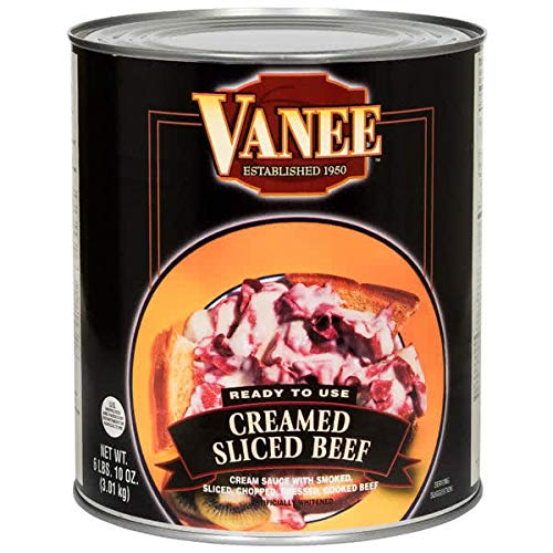 TableTop King 490GK #10 Can Creamed Sliced Beef - 6/Case