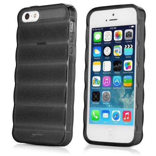BoxWave Étui pour Apple iPhone 5S Deelite Étui Coque en TPU antidérapant en caoutchouc–Peau–Apple iPhone 5s et coques (Noir)