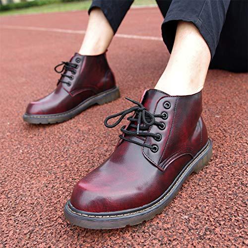 LOVDRAM Stiefel Männer Herbst Und Winter Martin Stiefel Herren Cotton Stiefel In Der Zunahme Der Männer Schuhe Runden Kopf Niedrige Hilfe Werkzeug Stiefel