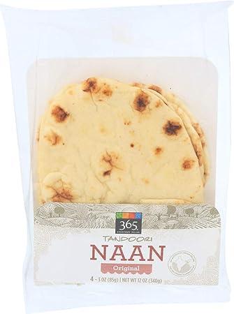 365 Everyday Value, Tandoori Naan Original, 3 Ounce, 4 Count (Frozen)