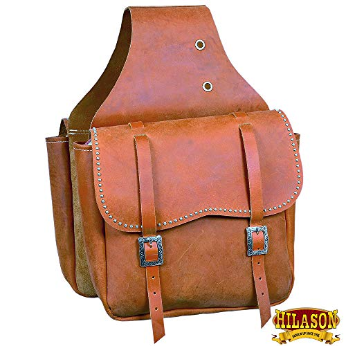 HILASON Western Horse Leather Saddle Bag Heavyduty Traditional Trail Ride