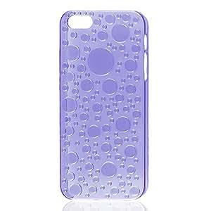 3D gota de agua gota de agua púrpura claro duro del caso para el iPhone 5 5G