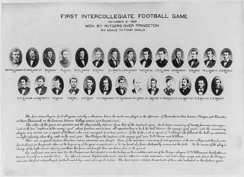 First College Football Game,1869,Rutgers,Princeton Infinite Photographs Photo