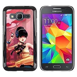 iKiki Tech / Estuche rígido - Cute Smoking Girl - Samsung Galaxy Core Prime SM-G360