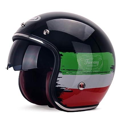 Amazon.es: Casco de seguridad para motocicleta ZH Harley con lente ...