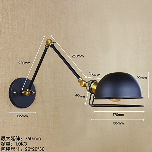 Injuicy Lighting Edison Vintage Iron Wall Light Cafe Aisle Hall Lamp Adust Machine Arm Loft Bar