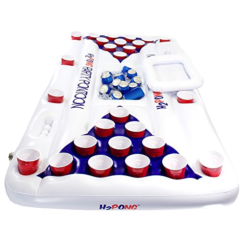 H2PONG Inflatable Beer Pong Table with Built In Cooler, Includes