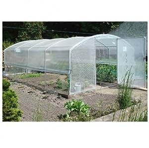 La invernadero 4estaciones Plus–anchura 4m–PVC armado robustex 400micras 10.50M sin filete de sombreado