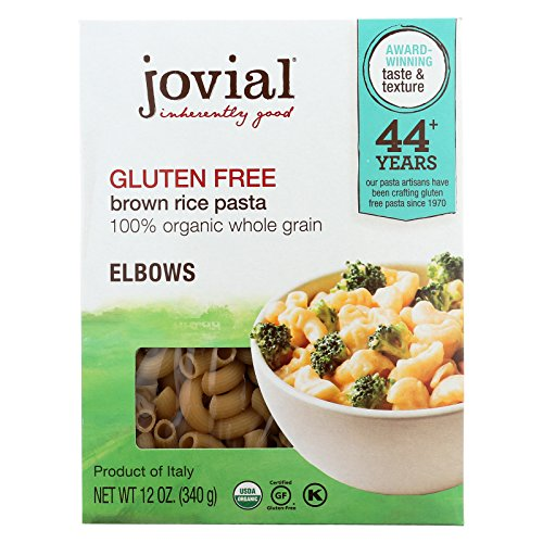 Brown Rice Pasta Elbow (Jovial Gluten Free Brown Rice Pasta - Elbow - Case of 12 - 12 oz.)