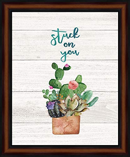 Stuck on You by Jo Moulton Framed Art Print Wall Picture, Traditional Brown Frame, 19 x 23 inches