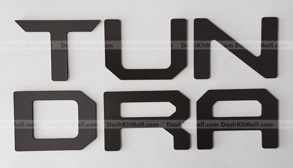 Black Tailgate Letters for Toyota Tundra 2014 2015 2016 2017 Rear Insert Not Decals SFSalesUSA TUNDRA-LETTERS-B