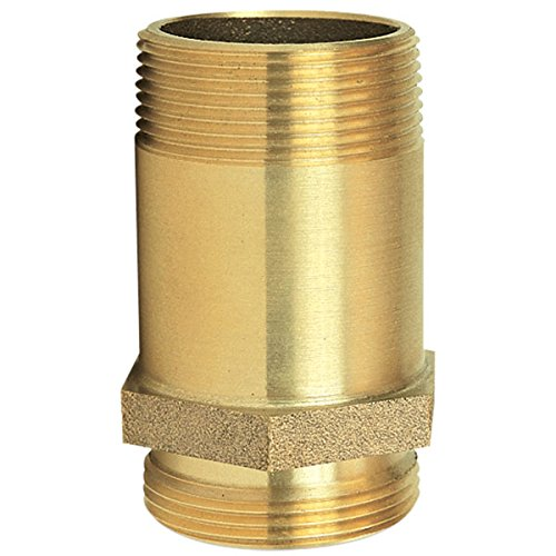 Pin Rack Nipple, 1 1/2'' NPT x NST, Brass (5 Pack) by GIACOMINI S.P.A.