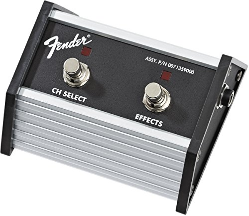Fender 2-Button Footswitch: Channel Select/Effects On/Off (Foot Guitar Switch)