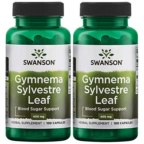 Swanson Gymnema Sylvestre Leaf 400 mg 100 Caps 2 Pack (Gymnema Sylvestre Powder)