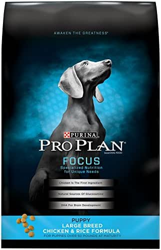 Purina Pro Plan Large Breed Dry Puppy Food, FOCUS Chicken & Rice Formula - 34 lb. Bag