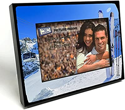 Skiing / Ski Resort 4x6 inch Picture Frame