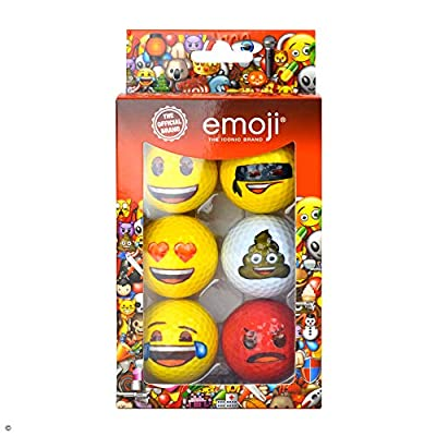 emoji Official Novelty Fun Golf Balls - 6 Pack - Choose Your