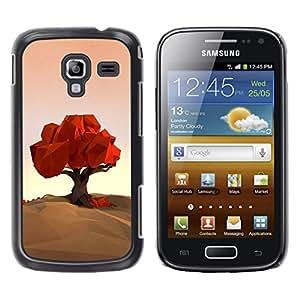 Be Good Phone Accessory // Dura Cáscara cubierta Protectora Caso Carcasa Funda de Protección para Samsung Galaxy Ace 2 I8160 Ace II X S7560M // Polygon Art Nature Fall Autumn