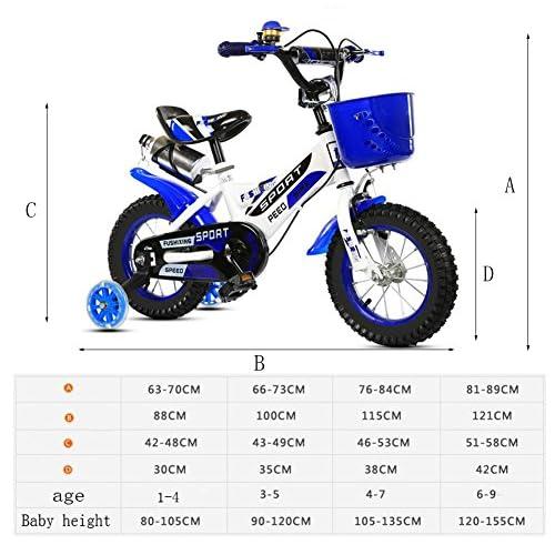 PAI PAI BABY Vélo Enfant, Avec Coupe Auxiliaire Roue Vélo Garçon Vélo De Montagne Amortissement Créatif Multifonction Vélo Longueur 88-121 CM