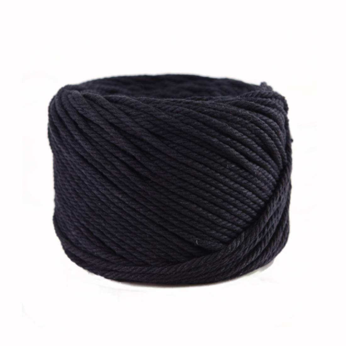 3mm x 328 Feet Soft Cotton Rope for Handmade Plant Hanger,Wall Hanging,Crafts,Knitting,Decorative Projects Black Color Cotton String SUNTQ Macrame Cord 4-Strand Twisted 100/% Natural Cotton