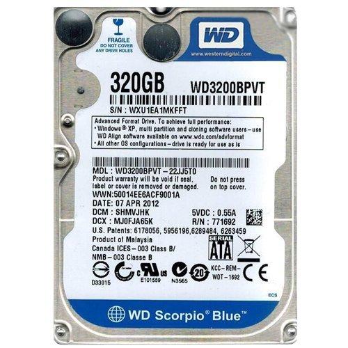 Price comparison product image Western Digital Part # WD3200BPVT - 22JJ5T0,