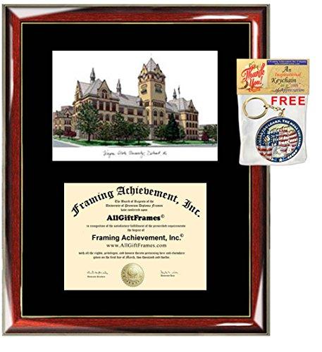 - Wayne State University Diploma Frame WSU Lithograph Degree Framing Certificate Holder Graduation Frames Plaque Graduate Plaque