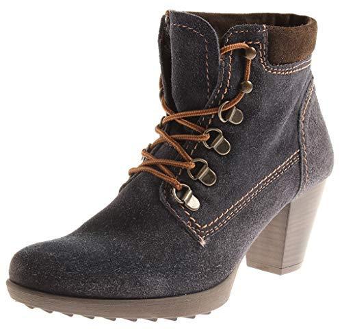 Winter Boot Ladies grey Blue 7708 Shoes Suede Tamaris Ankle Boots aXTqwxU6C